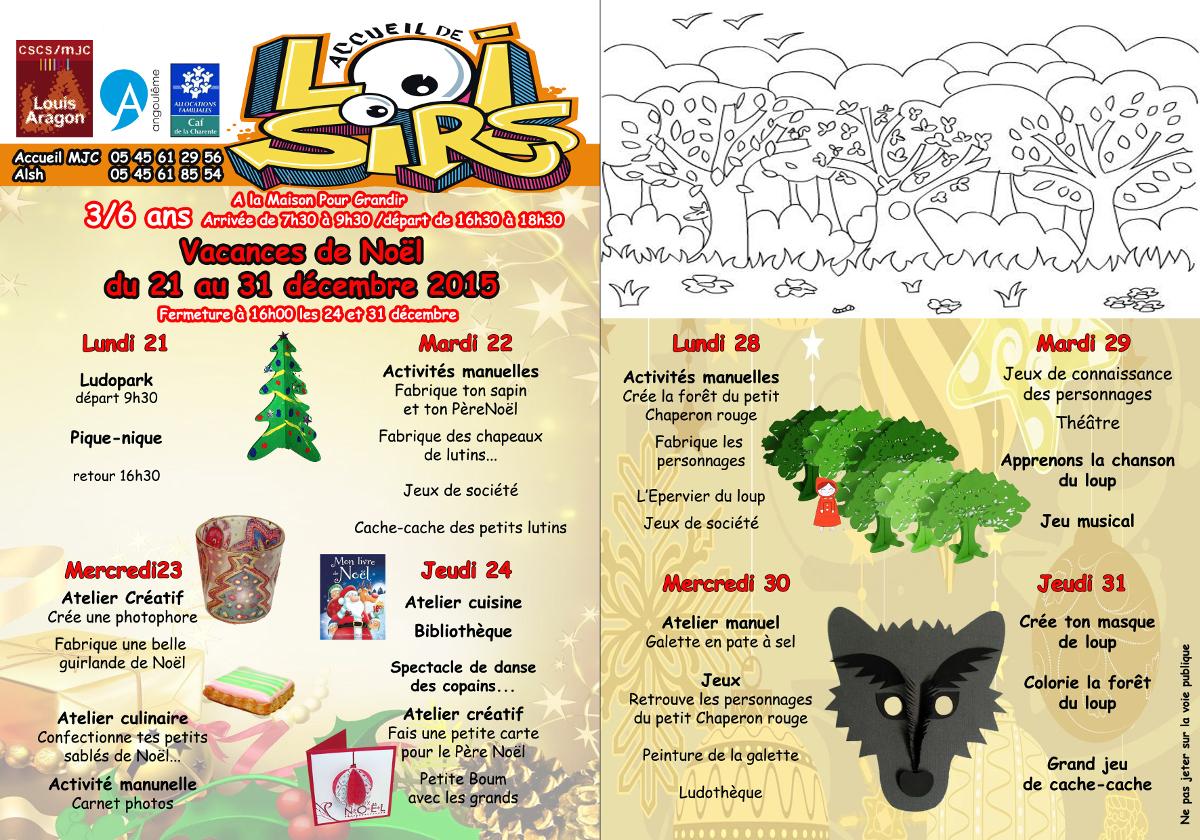 Activités Manuelles Centre De Loisirs 6 10 Ans les vacances de noël au centre de loisirs – cscs/mjc louis aragon